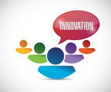 innovation team message illustration design - stock illustration
