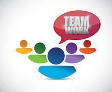 teamwork people illustration design - stock illustration