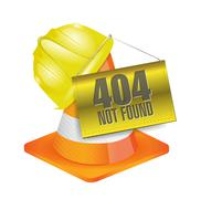 404 not found construction concept illustration Stock Illustration