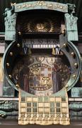 Anchor clock in vienna Stock Photos