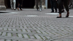 People Walking in Siena Italy (6 of 6) Stock Footage