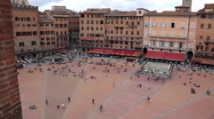 Piazza del Campo in Siena Italy (8 of 16) Stock Footage