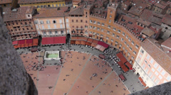 Piazza del Campo in Siena Italy (7 of 16) Stock Footage