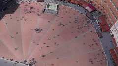 Piazza del Campo in Siena Italy (5 of 16) Stock Footage