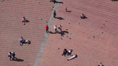 Piazza del Campo in Siena Italy (4 of 16) Stock Footage