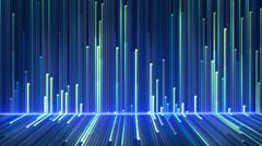 Blue glowing lines loop Stock Footage