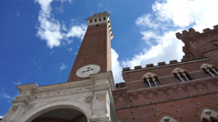 Torre del Mangia in Siena Italy (5 of 10) Stock Footage