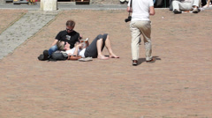 Piazza del Campo in Siena Italy (10 of 16) Stock Footage