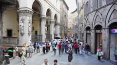 People Walking in Siena Italy (5 of 6) Stock Footage