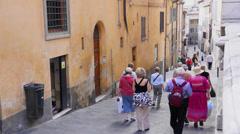 People Walking in Siena Italy (2 of 6) Stock Footage