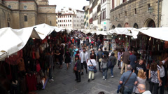 Market Place in Florence (8 of 11) Stock Footage
