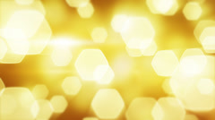 Yellow blinking bokeh lights loop Stock Footage