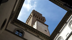 Palazzo Vecchio Tower in Florence (3 of 3) Stock Footage