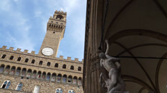 Palazzo Vecchio Tower in Florence (2 of 3) Stock Footage