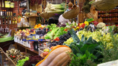 Food Market in Florence (15 of 15) Stock Footage