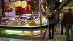Food Market in Florence (4 of 15) Stock Footage