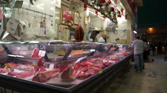 Food Market in Florence (5 of 15) Stock Footage