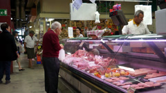 Food Market in Florence (6 of 15) Stock Footage