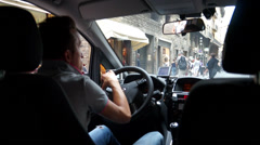 Driving in Florence (2 of 7) Stock Footage