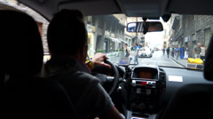 Driving in Florence (5 of 7) Stock Footage