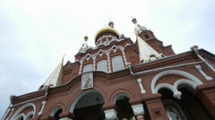 St. Michael's Cathedral in Izhevsk, Russia Stock Footage