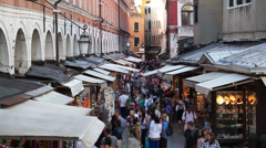 Market Scenes Around Venice (1 of 2) Stock Footage