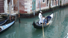 Gondolas of Venice (15 of 16) - stock footage