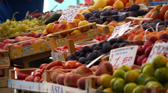 Scenes of the Rialto Food Market in Venice (20 of 22) Stock Footage