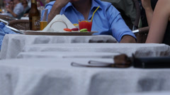 People Eating in the San Marco Piazza (7 of 10) Stock Footage