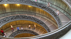 The famous Vatican staircase 6 Stock Footage