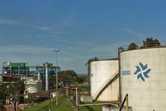 Ethanol storage tanks Stock Photos