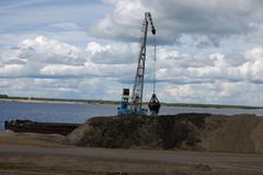 Port dredge - stock photo