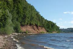 coast and river - stock photo