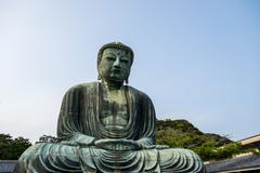 big buddha statue in kamakura japan3 - stock photo