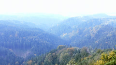 Panorama of  Czech Switzerland. Stock Footage