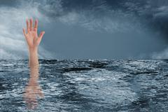 drowning - stock photo