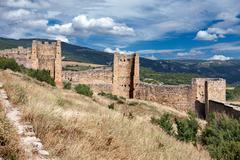 Loarre castle in huesca, aragon, spain Stock Photos