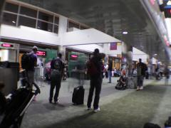 Airport time lapse disembarking Stock Footage