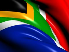 flag of south africa - stock illustration