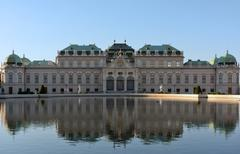 Upper belvedere palace Stock Photos