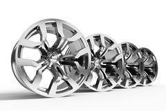 Car alloy wheel isolated over white Stock Illustration