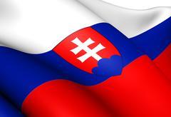Flag of slovakia Stock Illustration