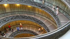 The famous Vatican staircase timelapse Stock Footage