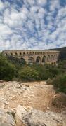 Pont du gard roman aqueduct .. Stock Photos