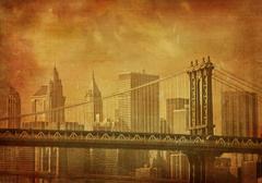 Vintage grunge kuva new york city Kuvituskuvat