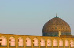 dome of sheikh lotf allah mosque, isfahan, iran - stock photo