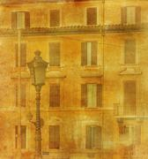 Vintage image of house in rome, italy Stock Photos