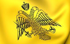 greek orthodox church flag - stock illustration
