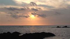 Anaeho'omalu Bay at Sunset Stock Footage