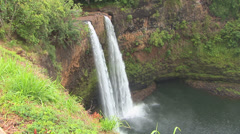 Wailua Falls Stock Footage